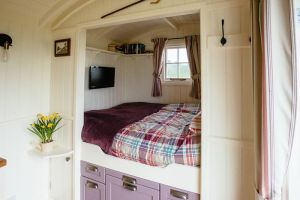 Shepherds Hut cosy sleeping